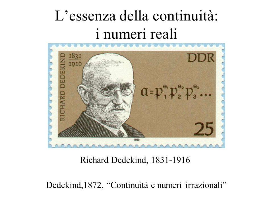 L'essenza della continuità: i numeri reali