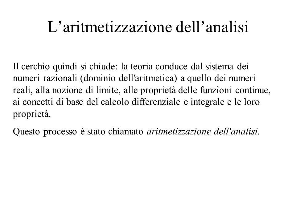 L'aritmetizzazione dell'analisi