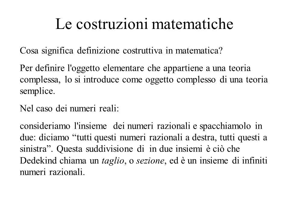 Le costruzioni matematiche