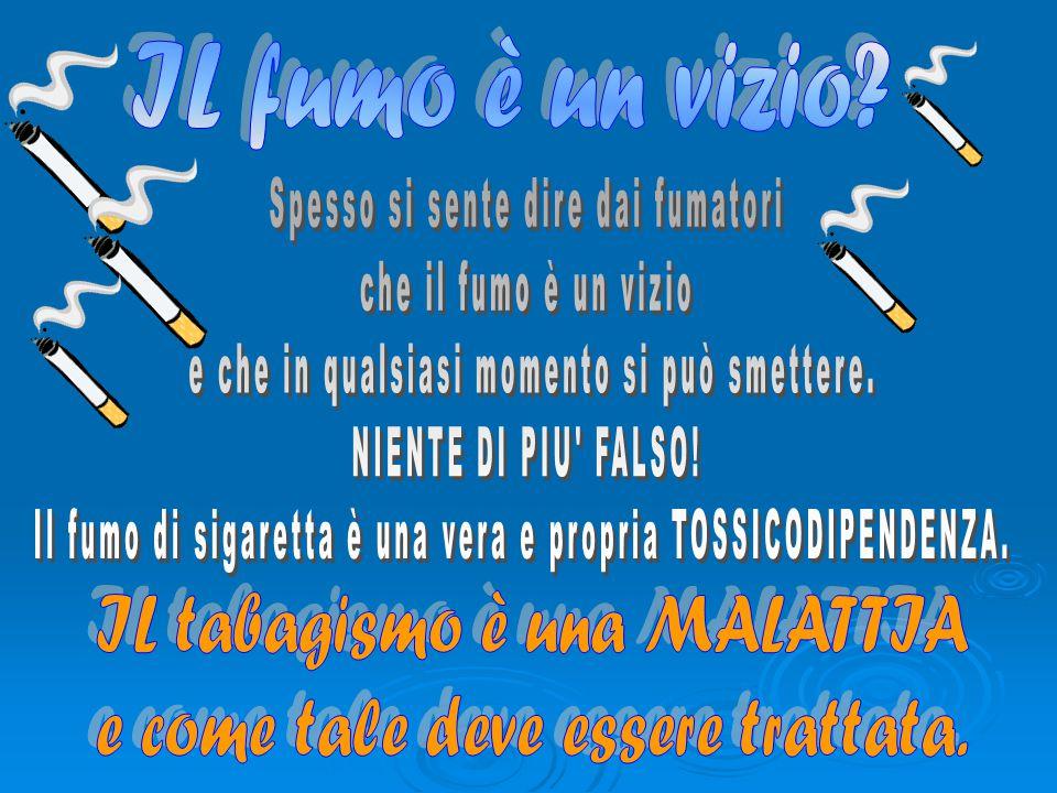 Spesso si sente dire dai fumatori che il fumo è un vizio