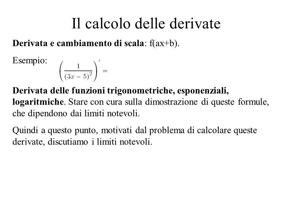 Il calcolo delle derivate