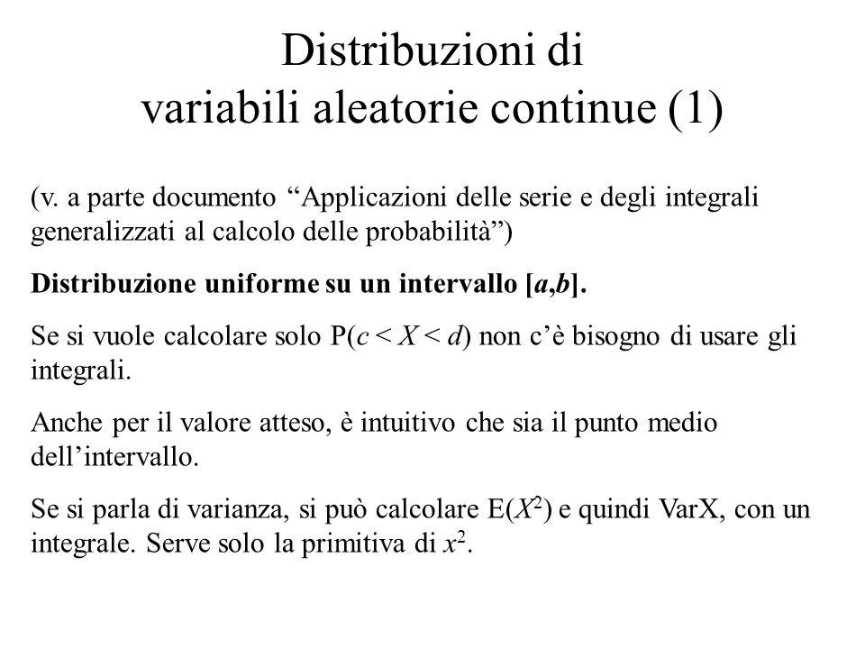 Distribuzioni di variabili aleatorie continue (1)
