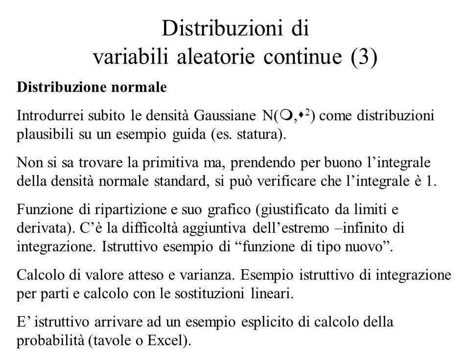 Distribuzioni di variabili aleatorie continue (3)