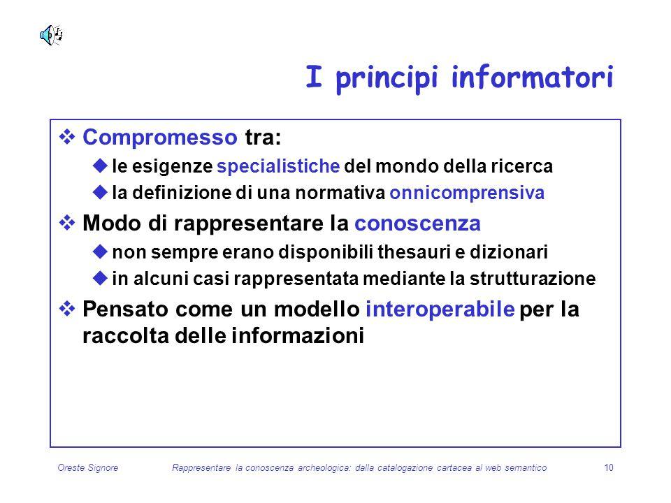 I principi informatori