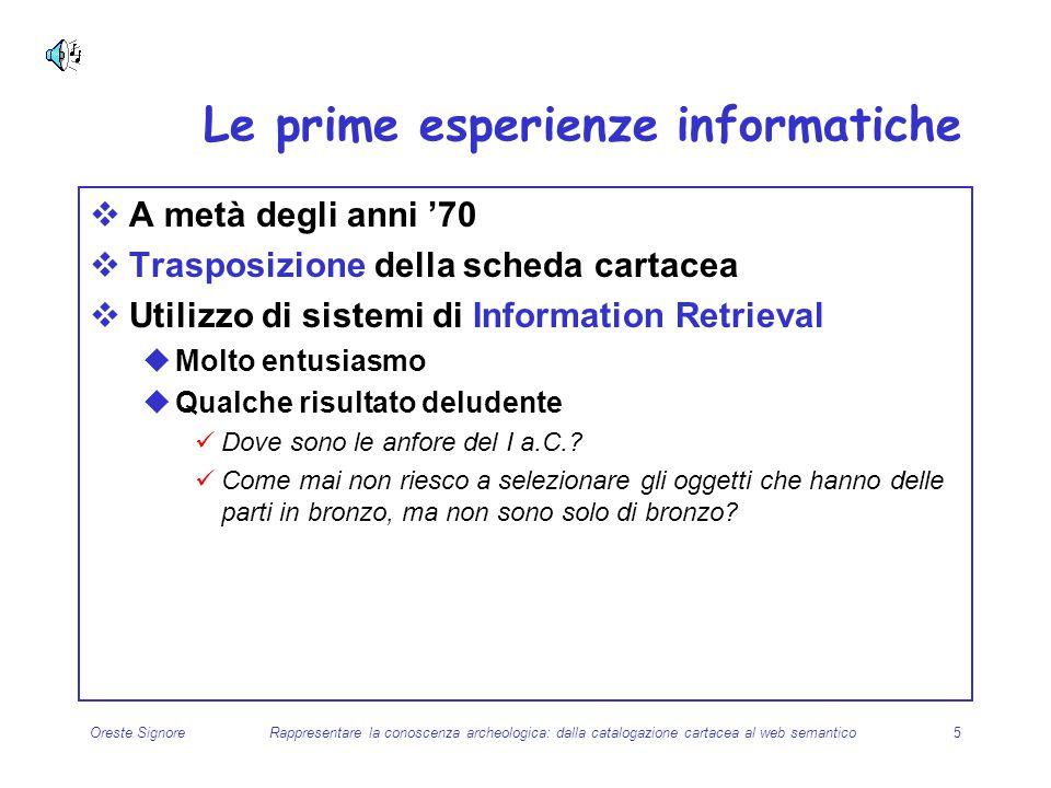 Le prime esperienze informatiche