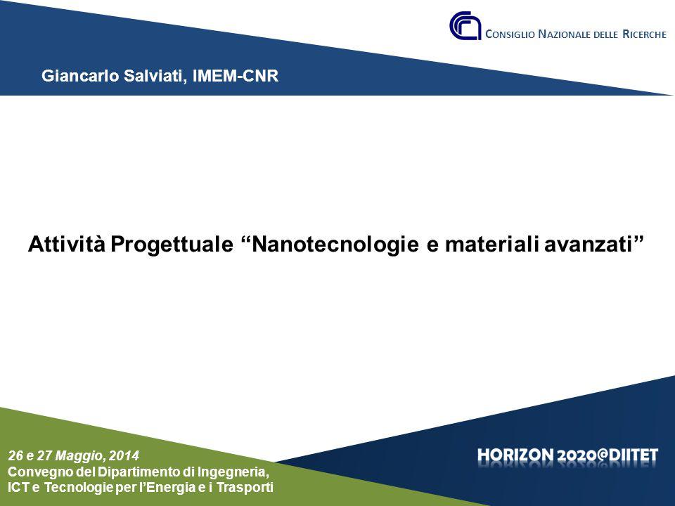 Attività Progettuale Nanotecnologie e materiali avanzati