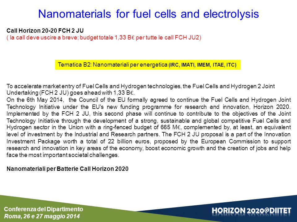 Nanomaterials for fuel cells and electrolysis