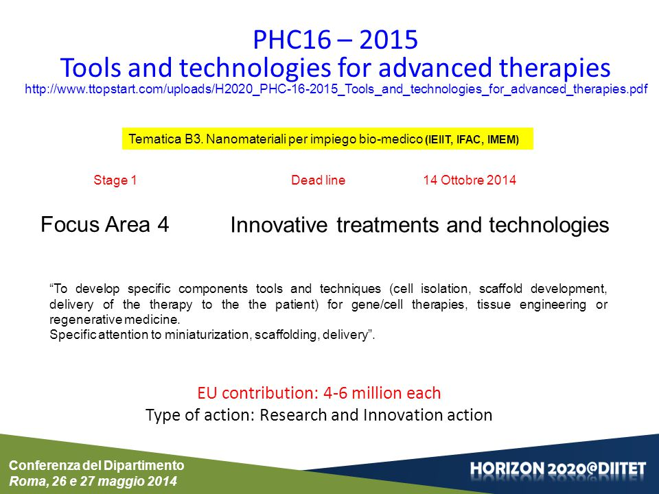 Tools and technologies for advanced therapies