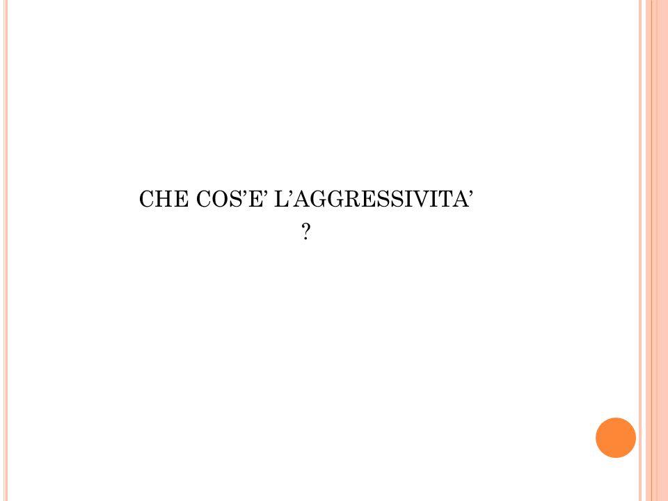 CHE COS'E' L'AGGRESSIVITA'