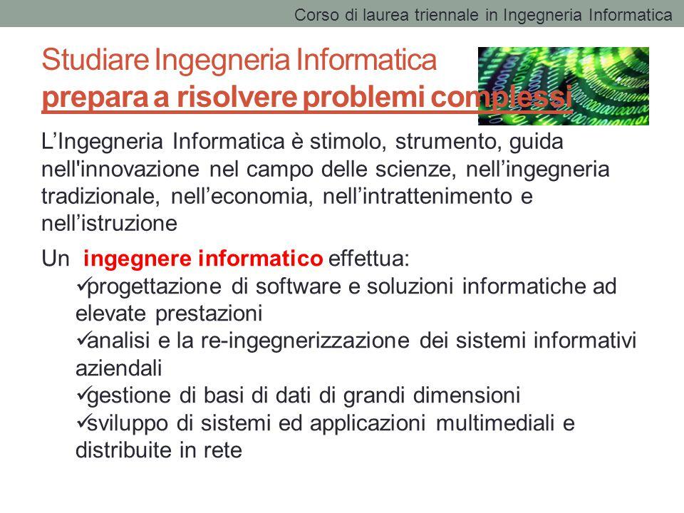 Studiare Ingegneria Informatica prepara a risolvere problemi complessi