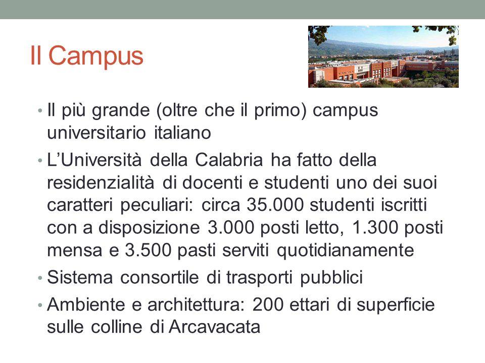 Il Campus Il più grande (oltre che il primo) campus universitario italiano.