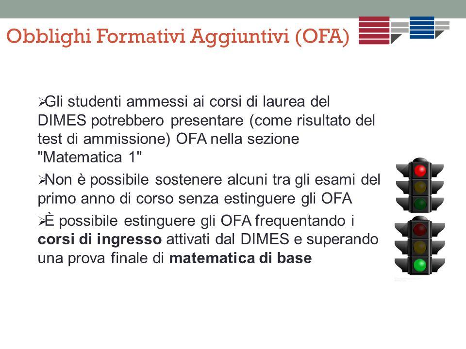 Obblighi Formativi Aggiuntivi (OFA)