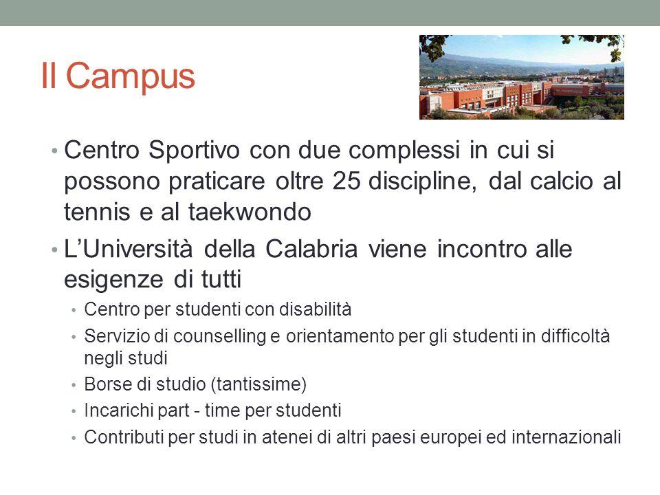 Il Campus Centro Sportivo con due complessi in cui si possono praticare oltre 25 discipline, dal calcio al tennis e al taekwondo.
