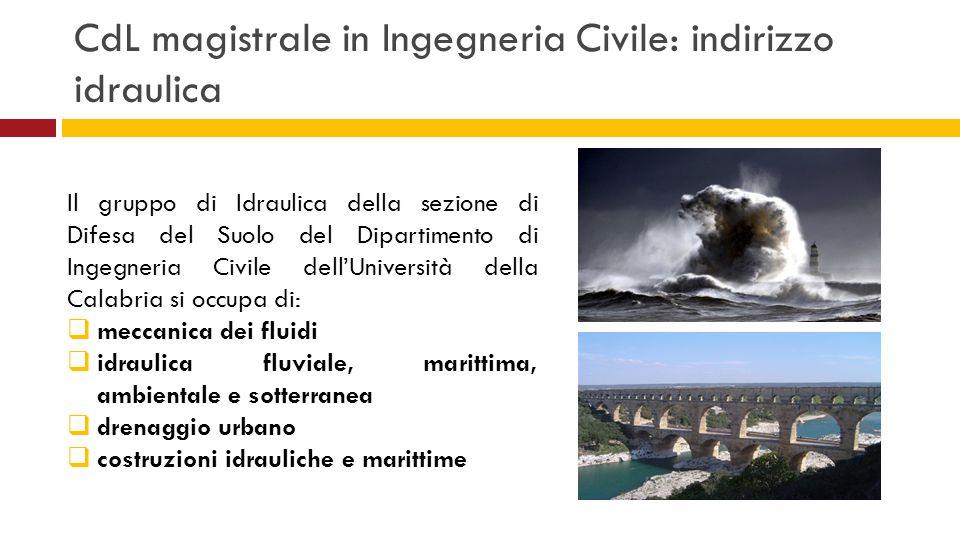 CdL magistrale in Ingegneria Civile: indirizzo idraulica