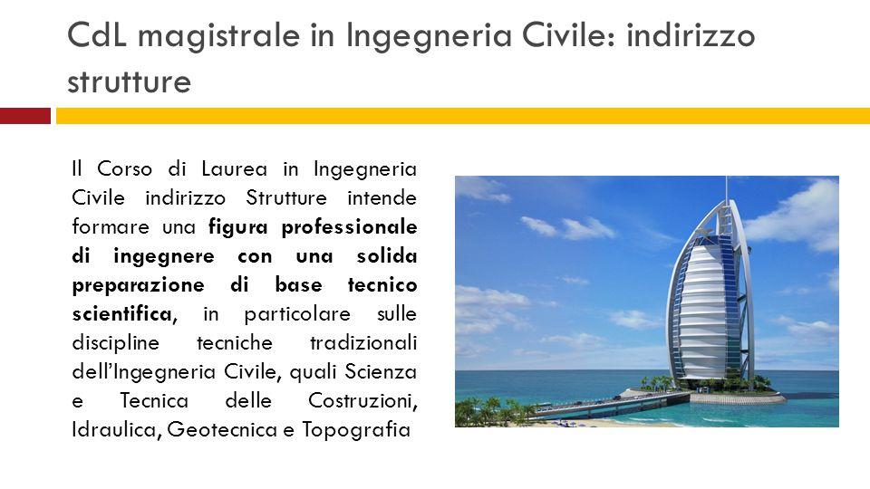 CdL magistrale in Ingegneria Civile: indirizzo strutture