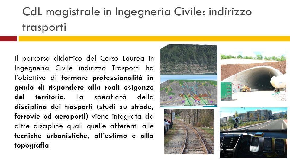 CdL magistrale in Ingegneria Civile: indirizzo trasporti