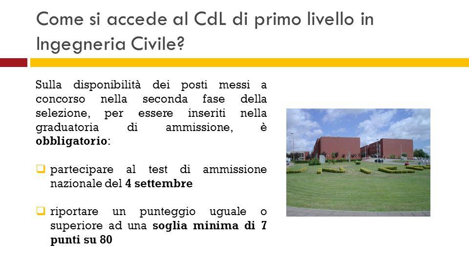 Come si accede al CdL di primo livello in Ingegneria Civile