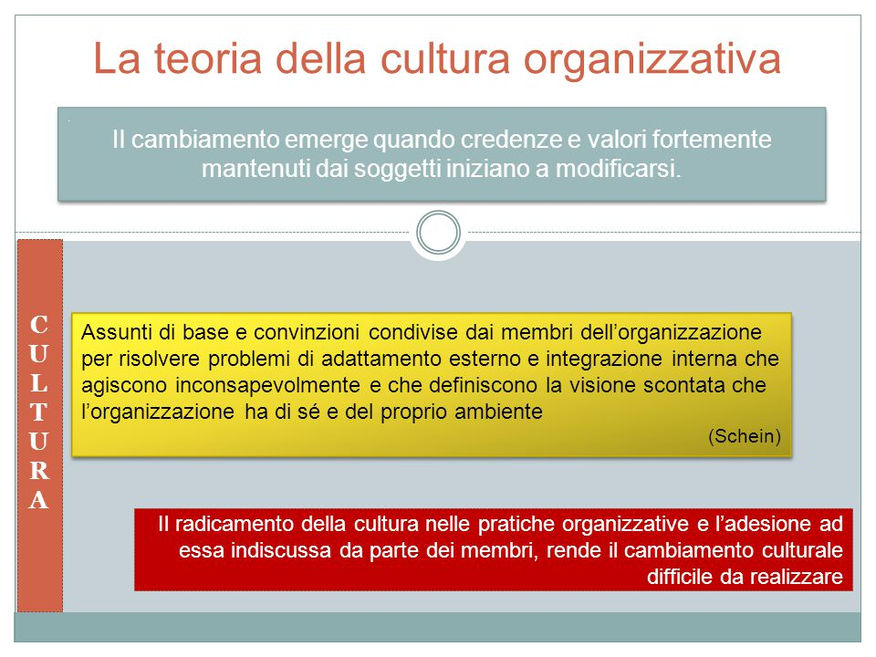 La teoria della cultura organizzativa