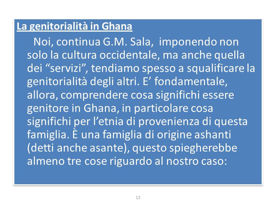 La genitorialità in Ghana