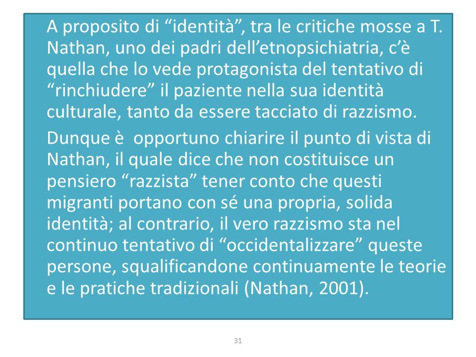 A proposito di identità , tra le critiche mosse a T