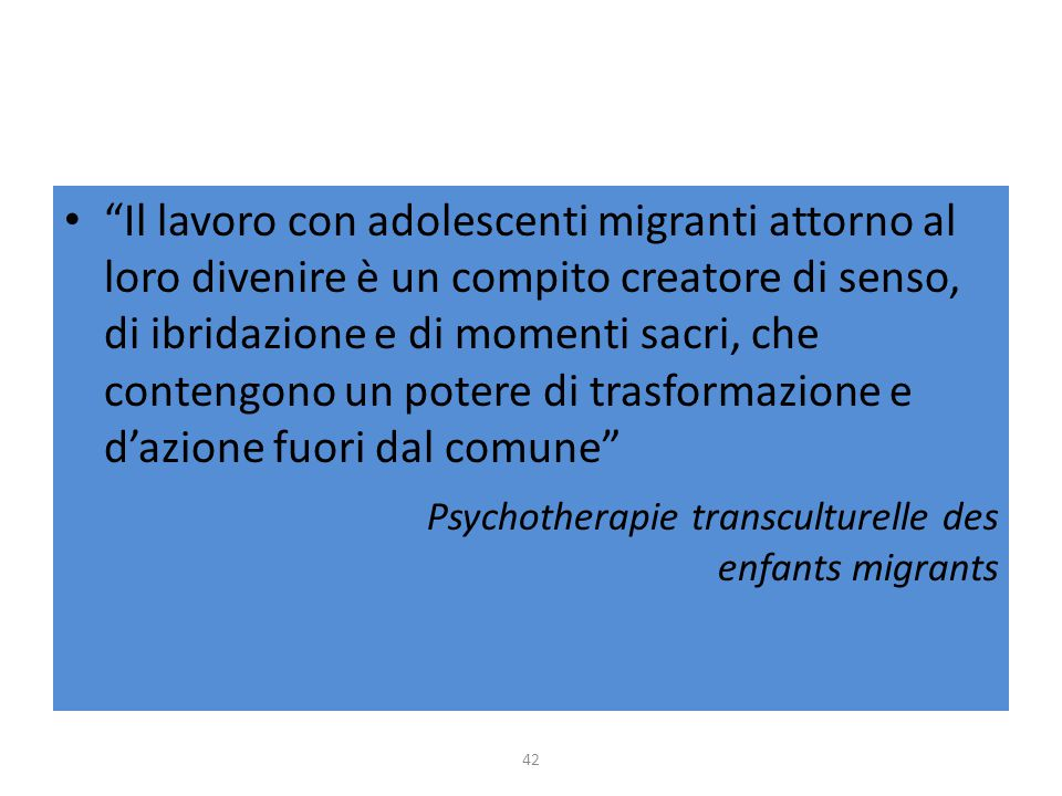 Psychotherapie transculturelle des enfants migrants