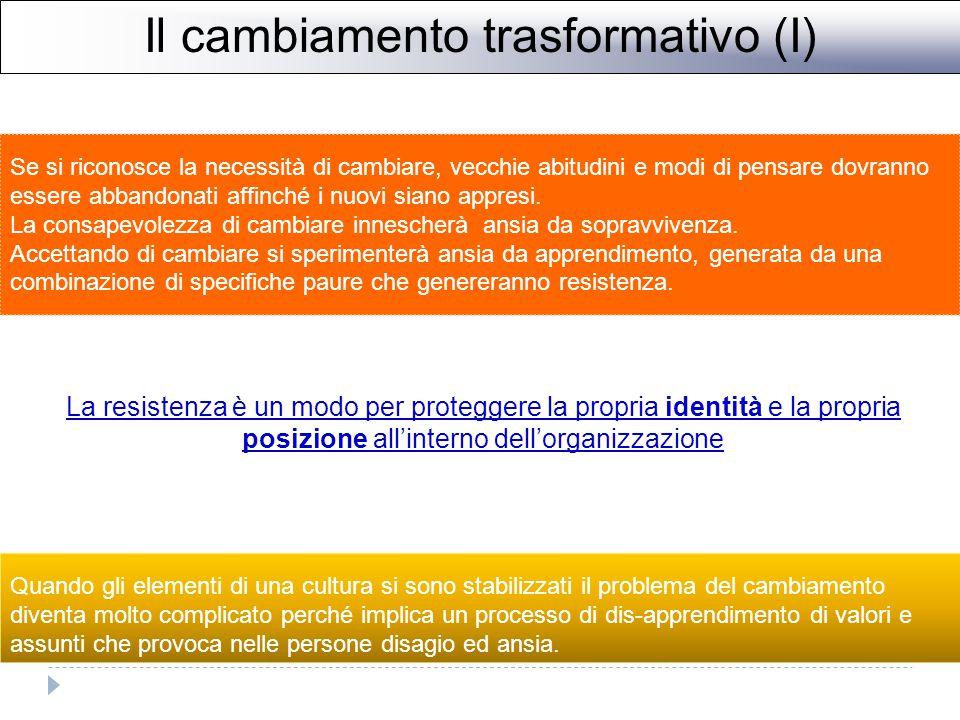 Il cambiamento trasformativo (I)