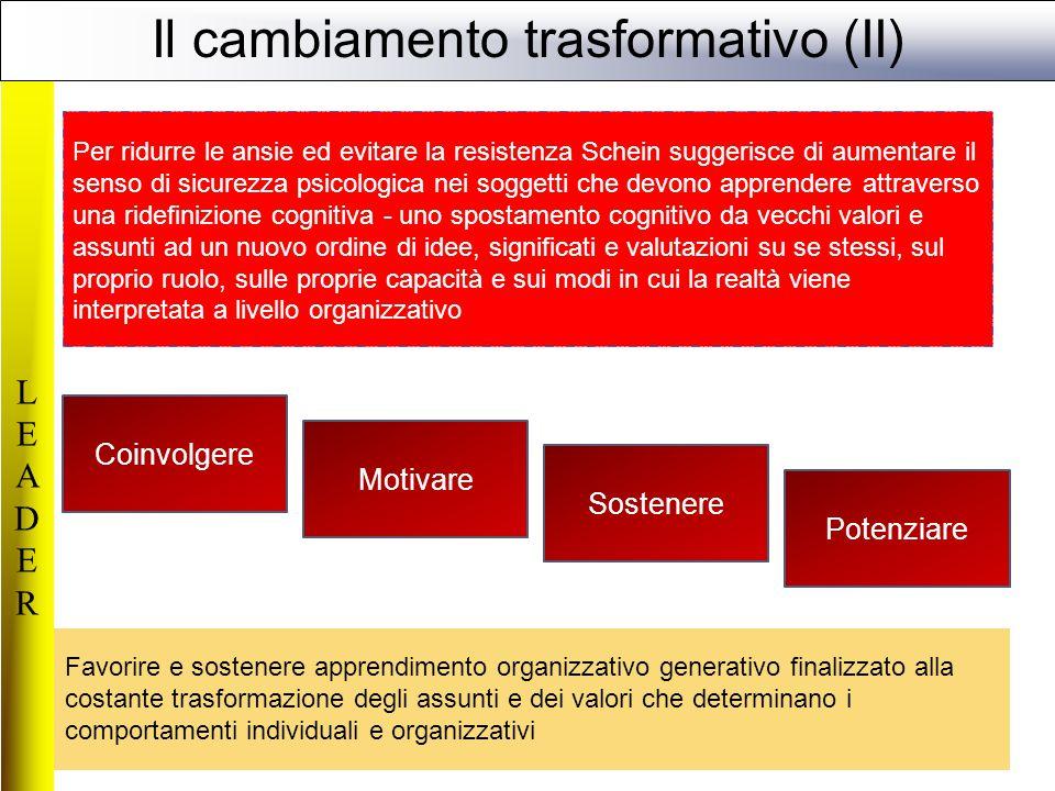 Il cambiamento trasformativo (II)