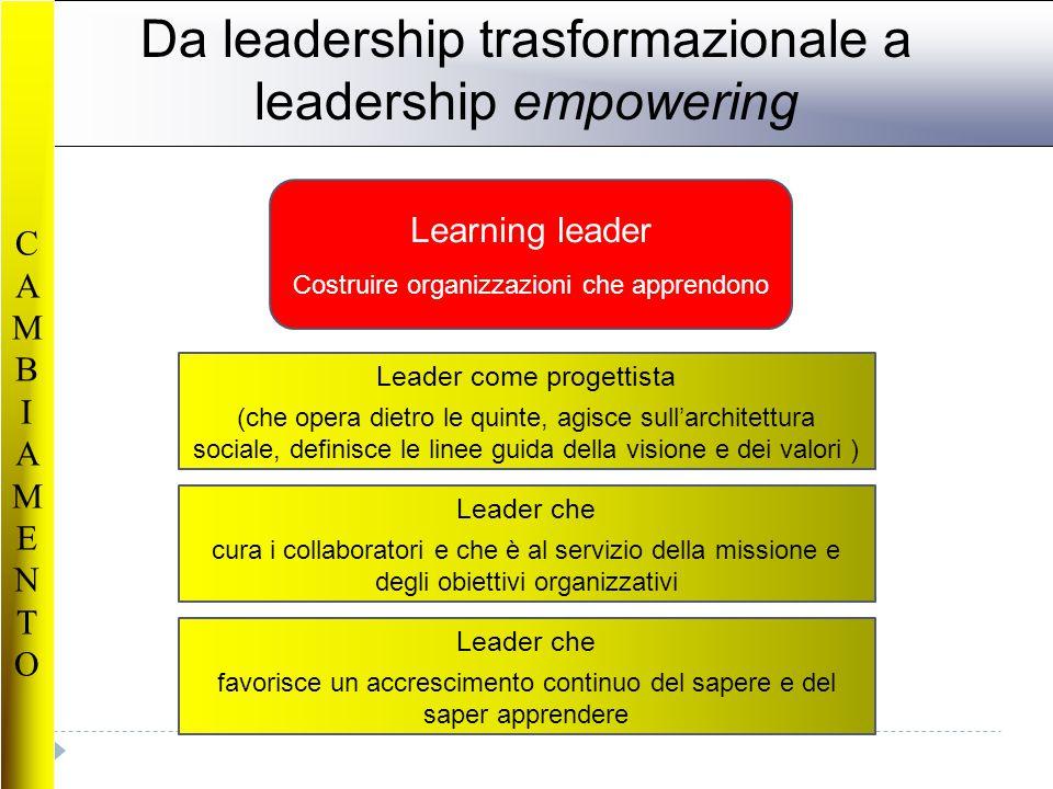 Da leadership trasformazionale a leadership empowering