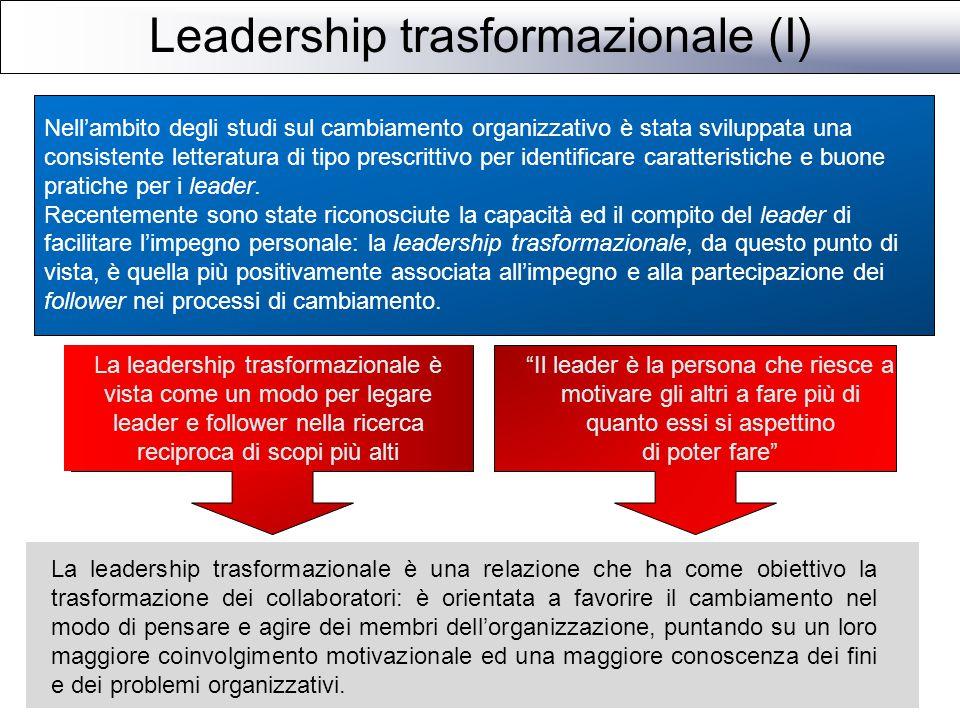 Leadership trasformazionale (I)
