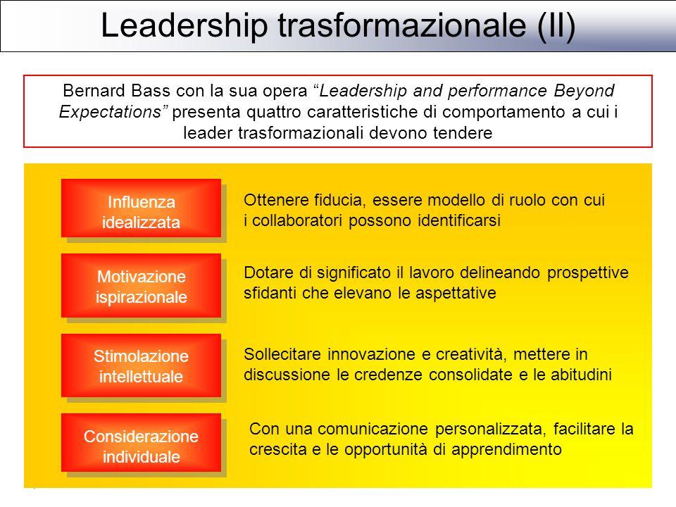 Leadership trasformazionale (II)