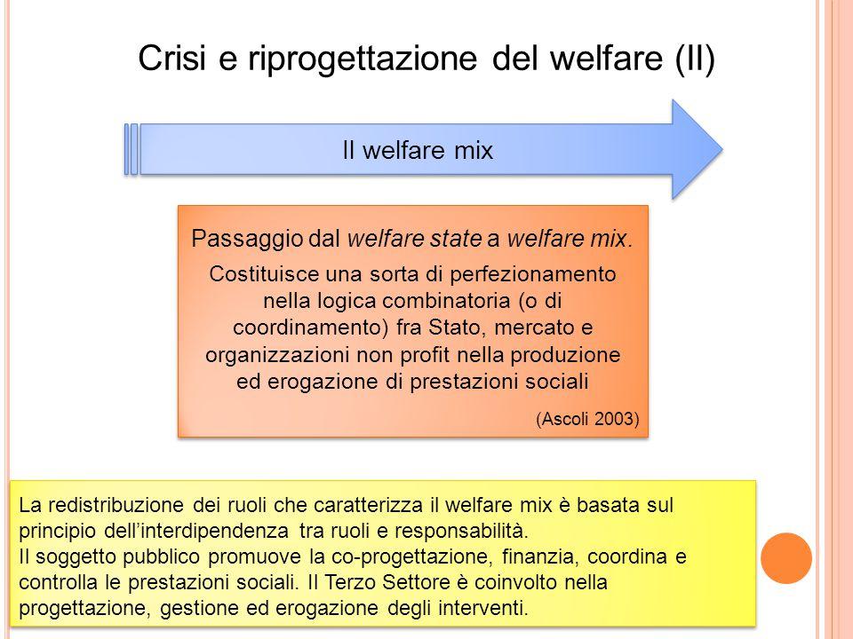 Crisi e riprogettazione del welfare (II)