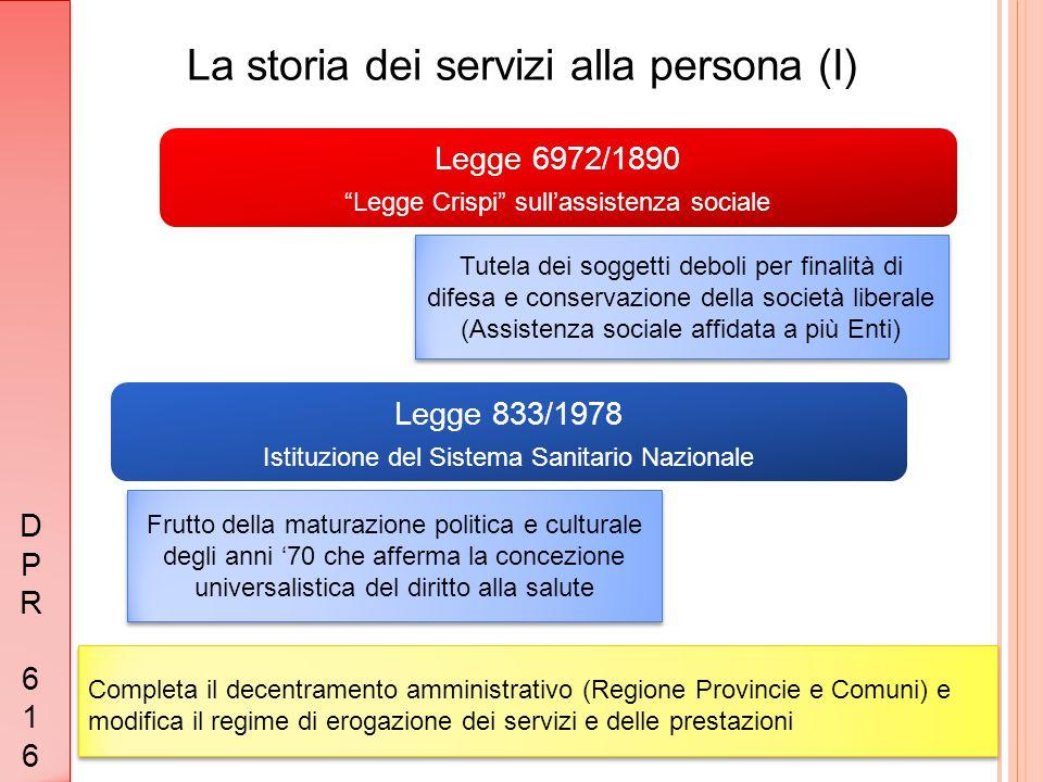 La storia dei servizi alla persona (I)