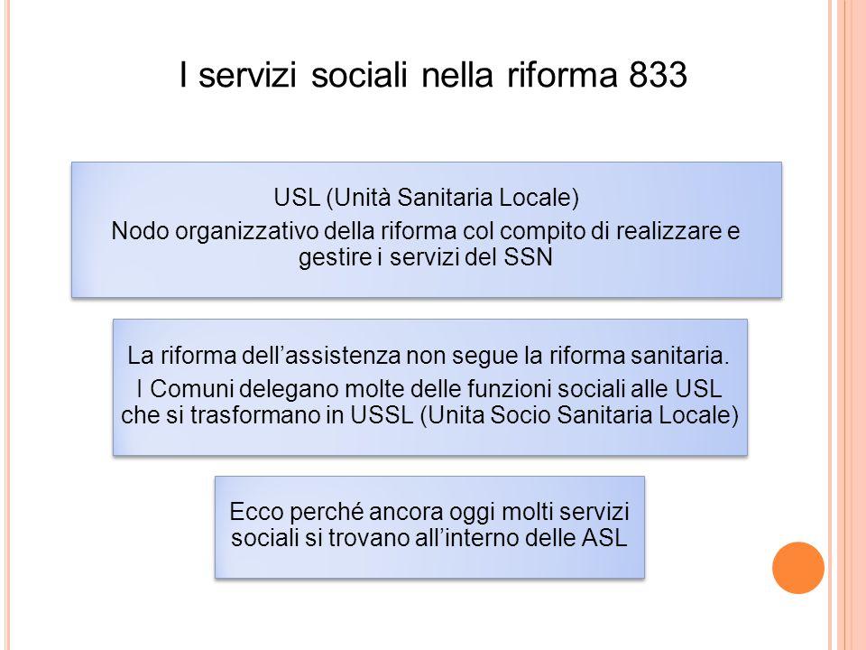 I servizi sociali nella riforma 833