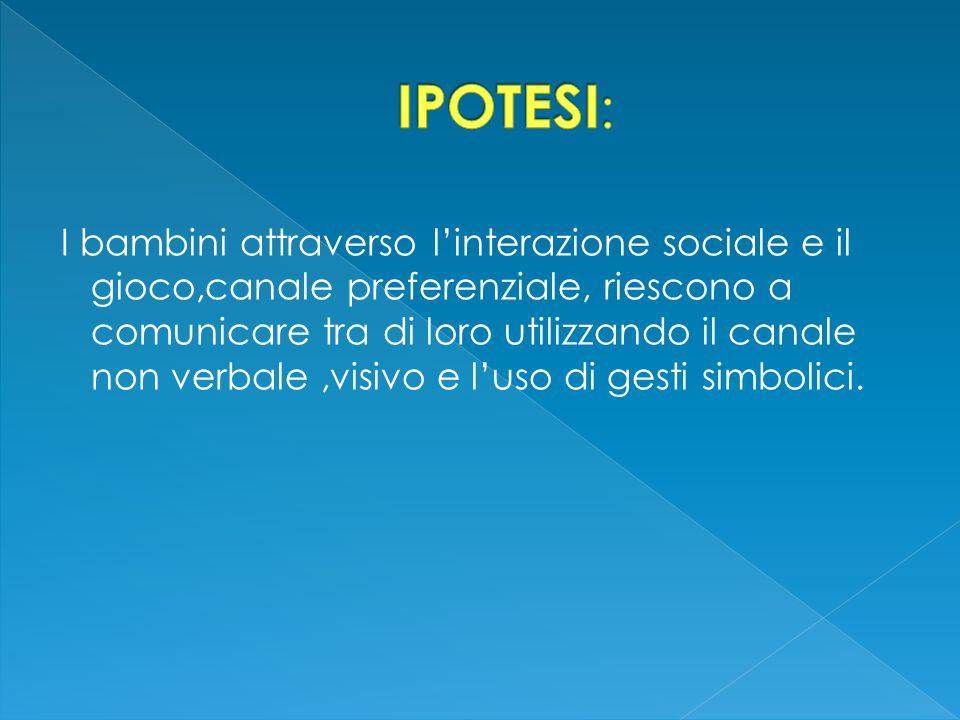 IPOTESI:
