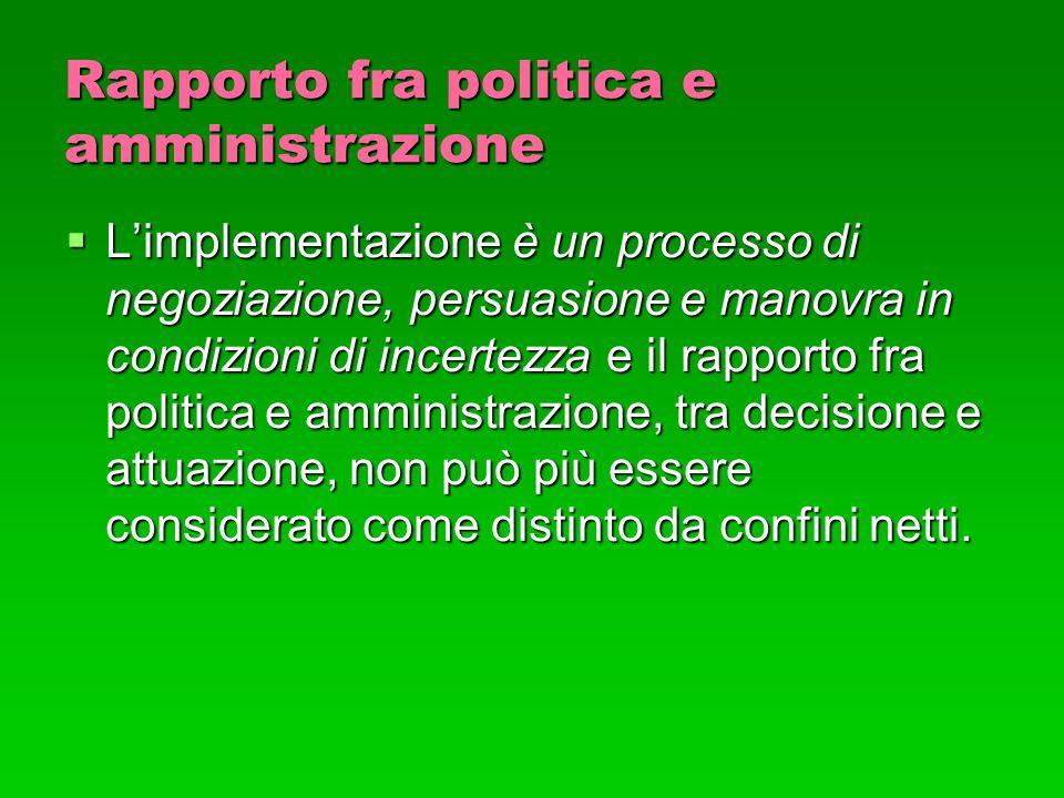 Rapporto fra politica e amministrazione