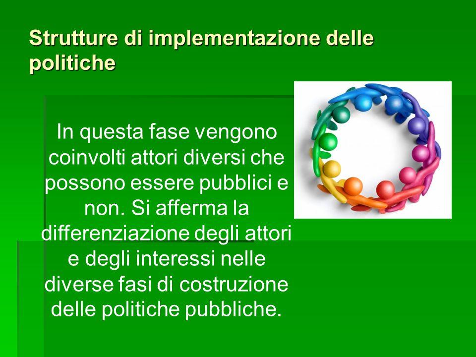 Strutture di implementazione delle politiche