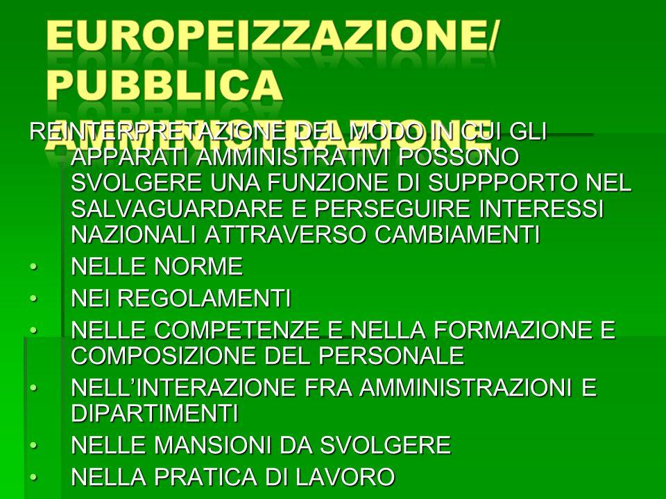 EUROPEIZZAZIONE/ PUBBLICA AMMINISTRAZIONE
