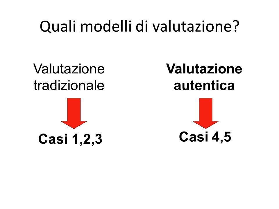 Quali modelli di valutazione