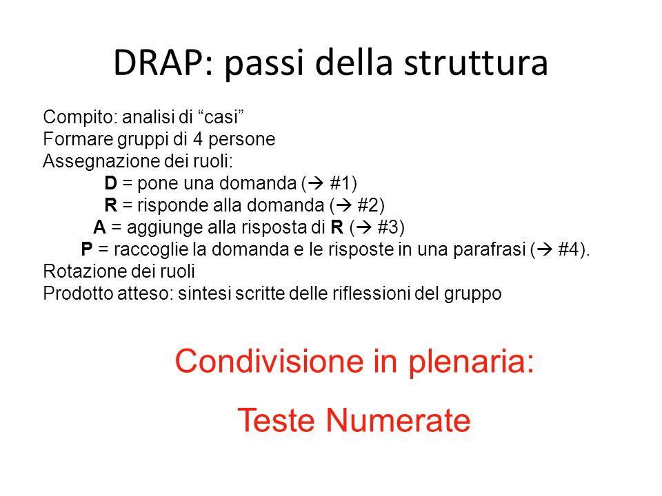DRAP: passi della struttura