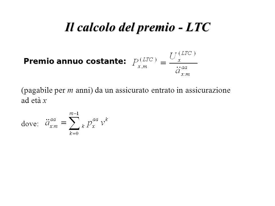 Il calcolo del premio - LTC