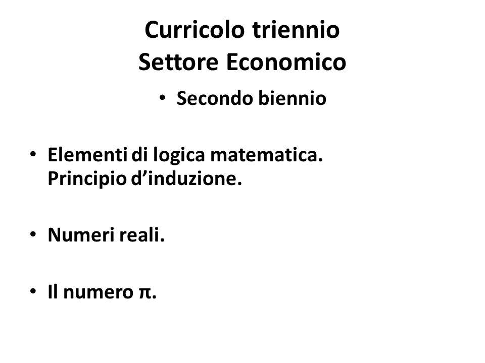 Curricolo triennio Settore Economico