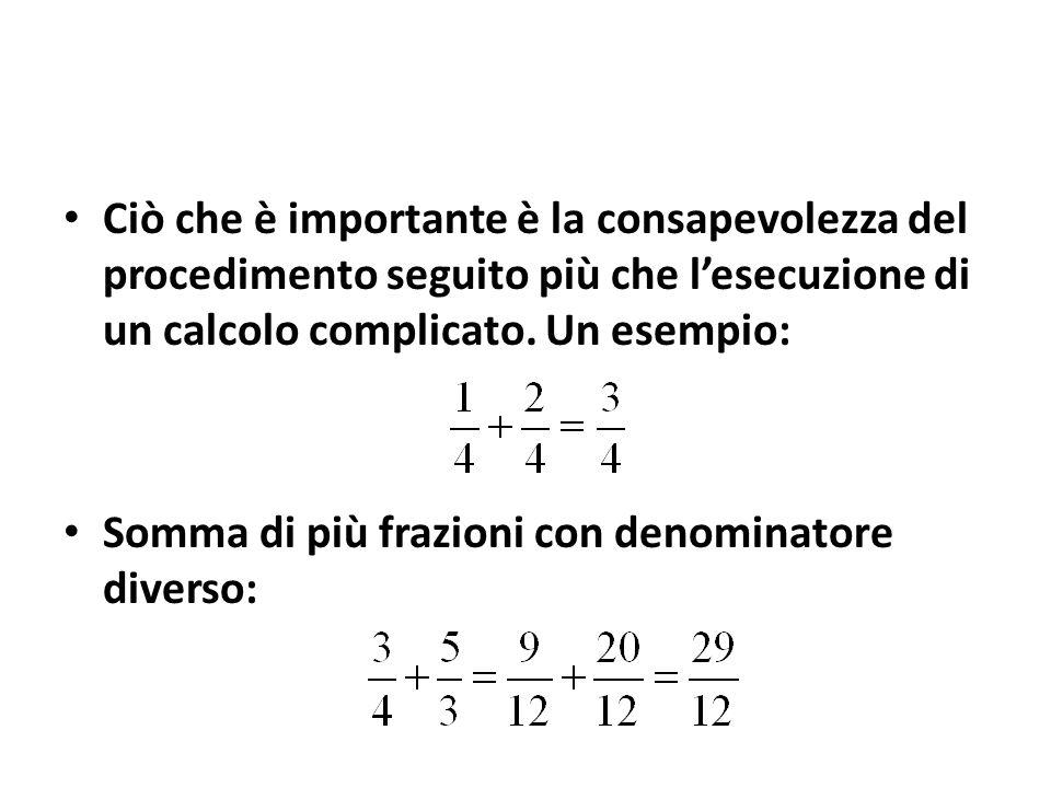 Ciò che è importante è la consapevolezza del procedimento seguito più che l'esecuzione di un calcolo complicato. Un esempio: