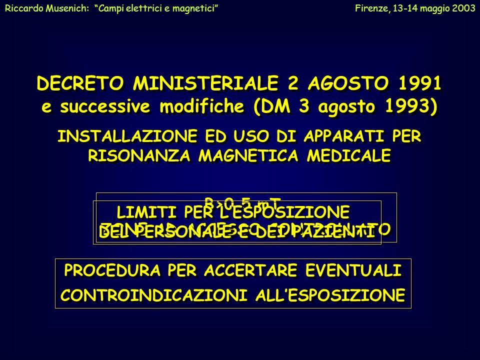 DECRETO MINISTERIALE 2 AGOSTO 1991