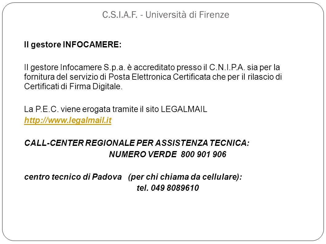 C.S.I.A.F. - Università di Firenze