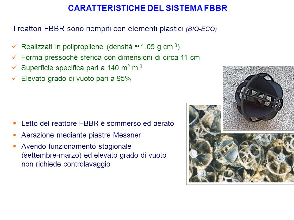 CARATTERISTICHE DEL SISTEMA FBBR