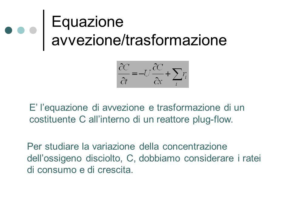 Equazione avvezione/trasformazione
