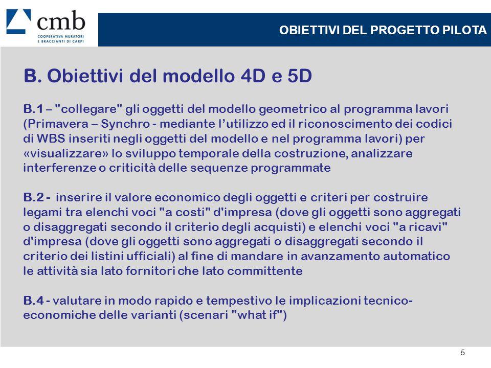 B. Obiettivi del modello 4D e 5D