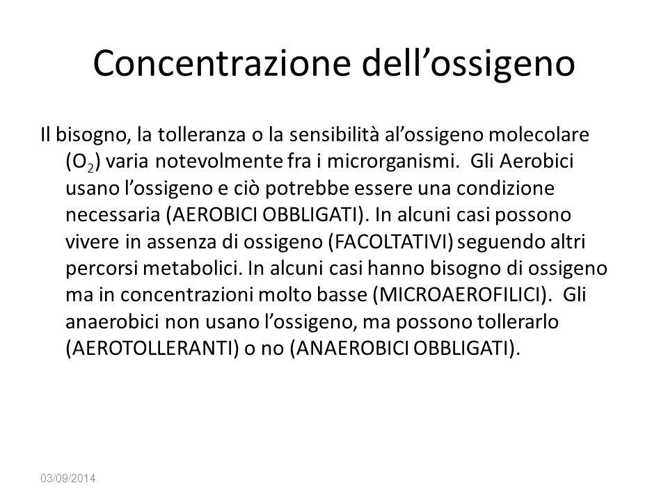 Concentrazione dell'ossigeno