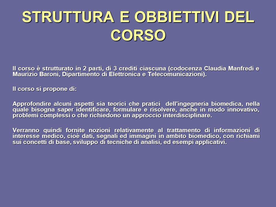 STRUTTURA E OBBIETTIVI DEL CORSO