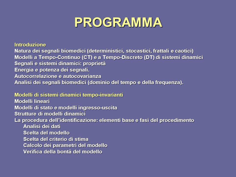 PROGRAMMA Introduzione